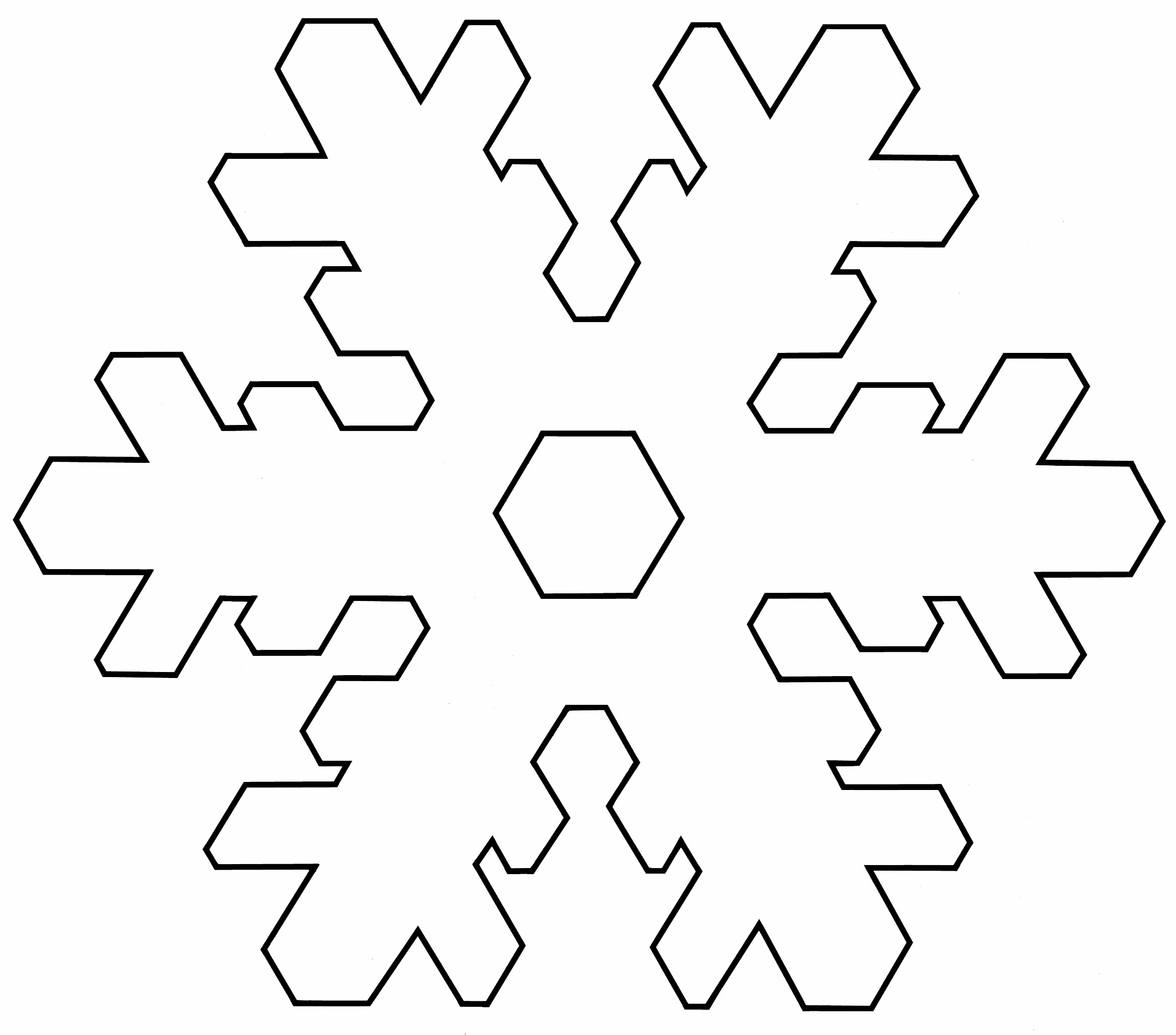 small snowflake template