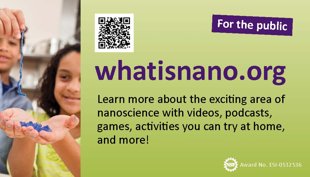 promotional card for whatisnano.org website