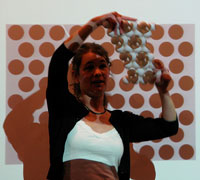 "Cornell researcher Sharon Gerbode talks about ""squishy science"" at Sciencenter in Ithaca, NY"