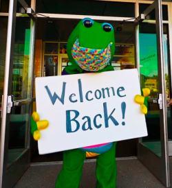 REX Mascot welcome back!