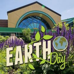 photo with Earth Day logo from the Children's Museum of Indianapolis