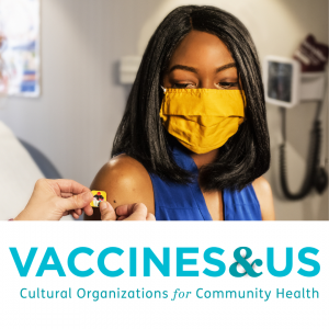 Smithsonian VaccinesandUS image of masked woman getting bandaid after vaccine.png