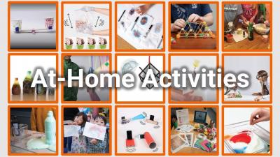 Howtosmile at home activities matrix of images from at home STEM activities