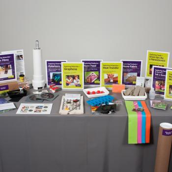 Kit components for NanoDays kit including signs posters and activity materials