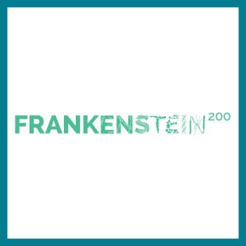 Frankenstein logo square with teal border