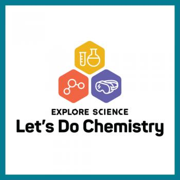 Let's do chemistry logo square with teal border