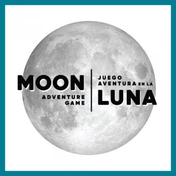 Moon Adventure Game logo square with border