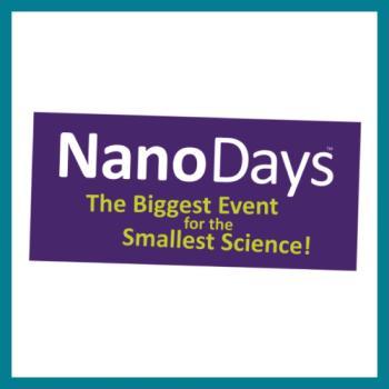 NanoDays logo square with teal border