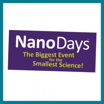NanoDays logo square with teal border