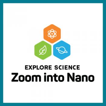 Zoom into Nano logo square with teal border