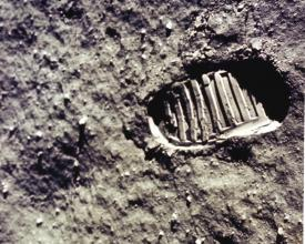 Apollo 11 moon landing footprint