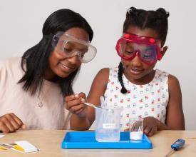 Explore Science Let's do chemistry girls experimenting
