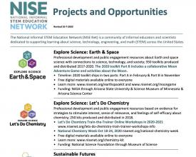 Projects and Opportunities flyer October 2020