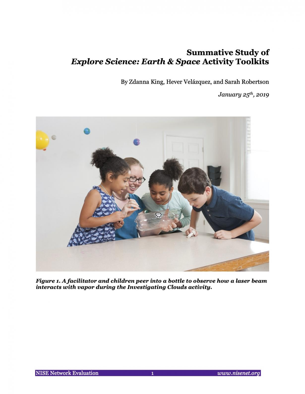 NISE Network SEISE Project Evaluation Earth and Space Toolkit Summative Evaluation cover