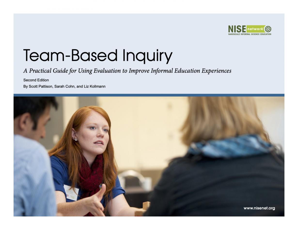 TEAM Based Inquiry Guide Cover page showing image of three people talking