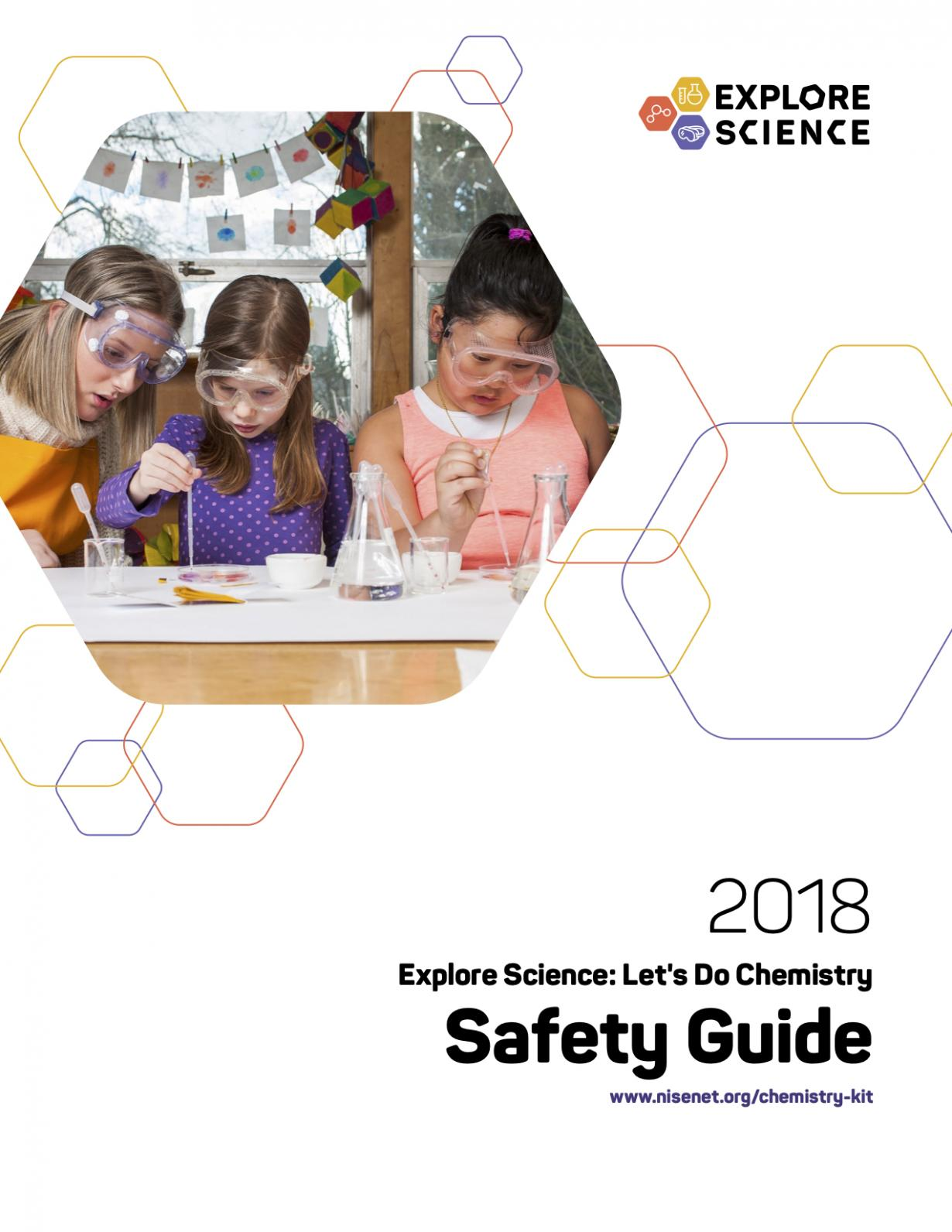 Let's Do Chemistry safety guide cover showing children using liquid droppers