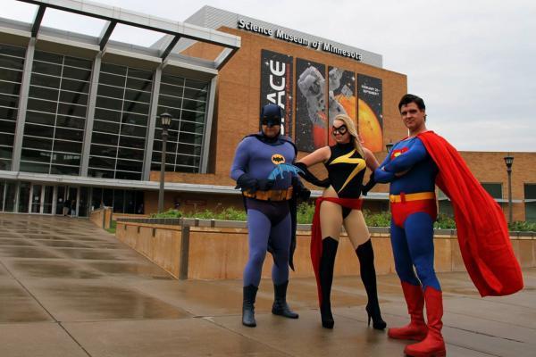 superheroes at Science Museum of Minnesota