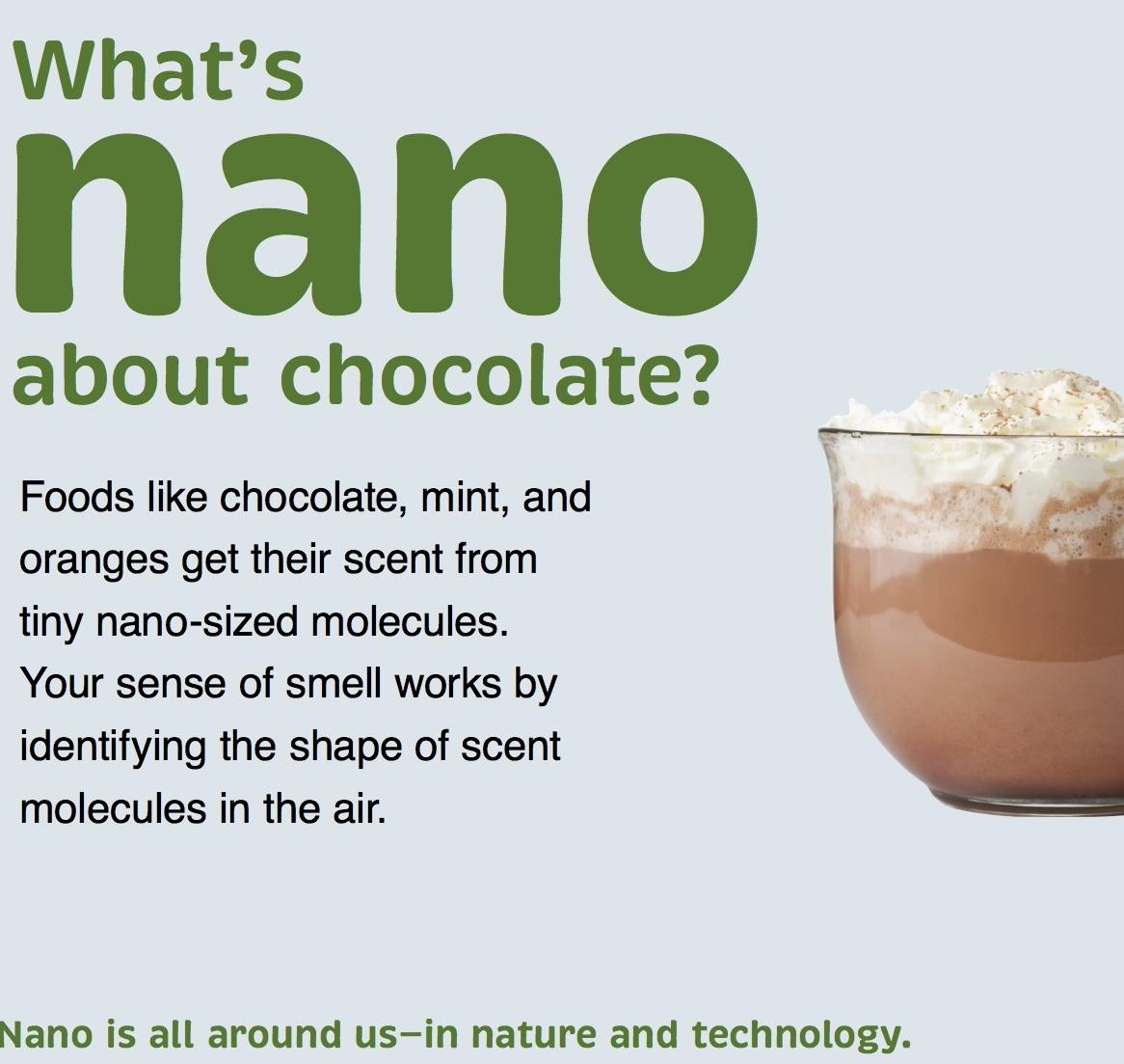 What is Nano about chocolate label graphic