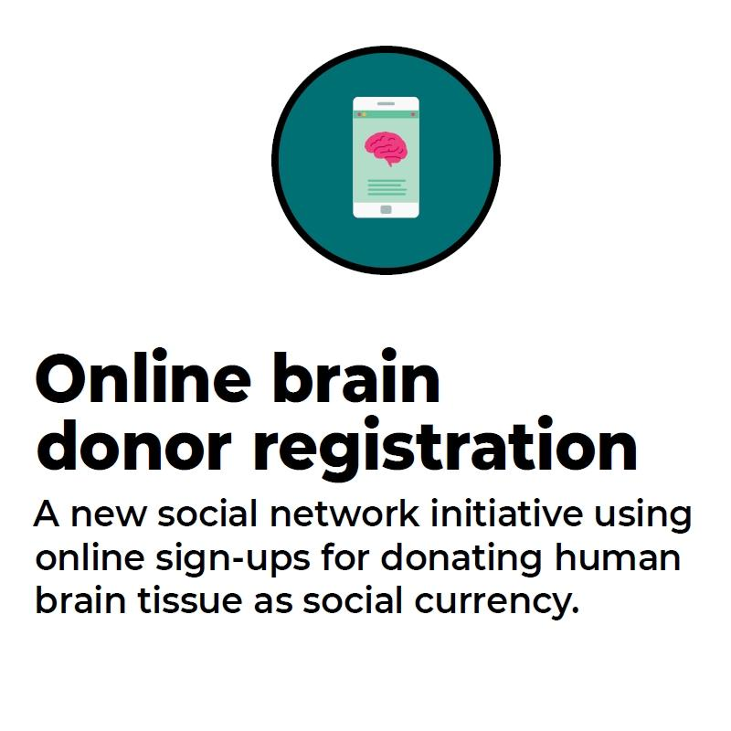technology card for online brain donor registration