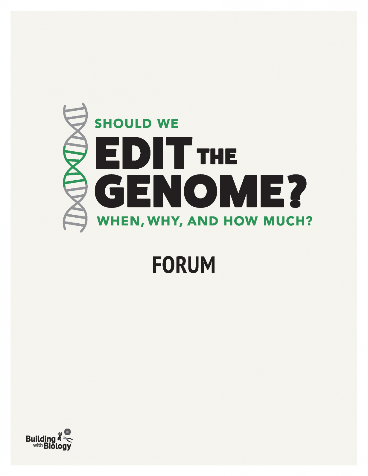Should We Edit the Genome? forum manual cover