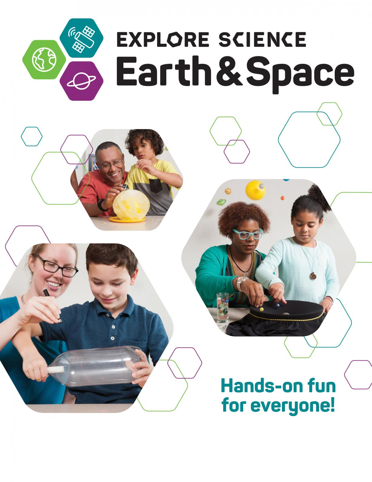 Ads and banners for Explore Science: Earth and Space