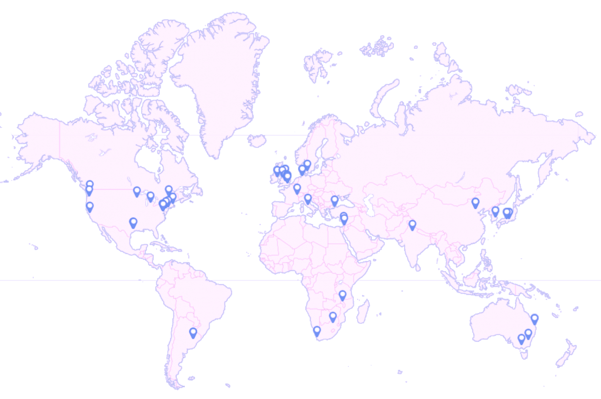 map of interview sites