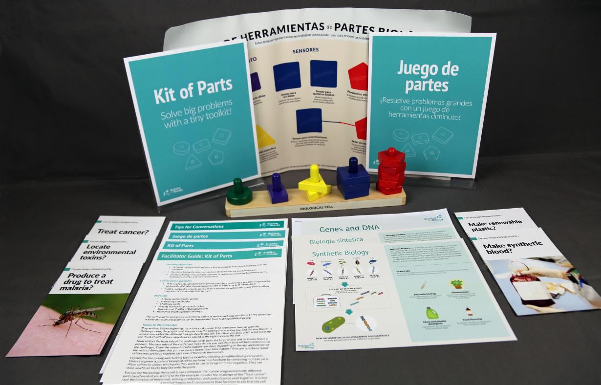 Building with Biology Kit of Parts activity components
