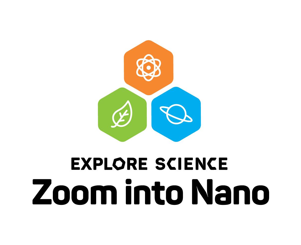 Explore science zoom into nano logo