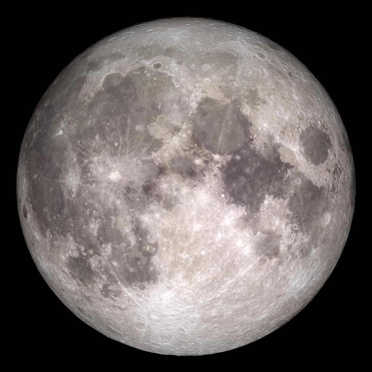 The near side of the Moon, as seen by the cameras aboard NASA's Lunar Reconnaissance Orbiter spacecraft (NASA/GSFC/Arizona State University, 2017)
