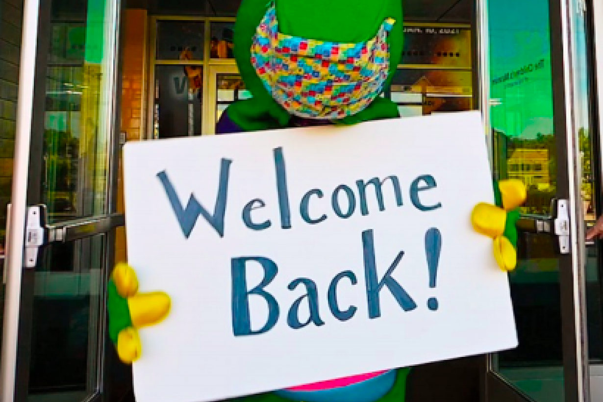 REX Mascot welcome back!