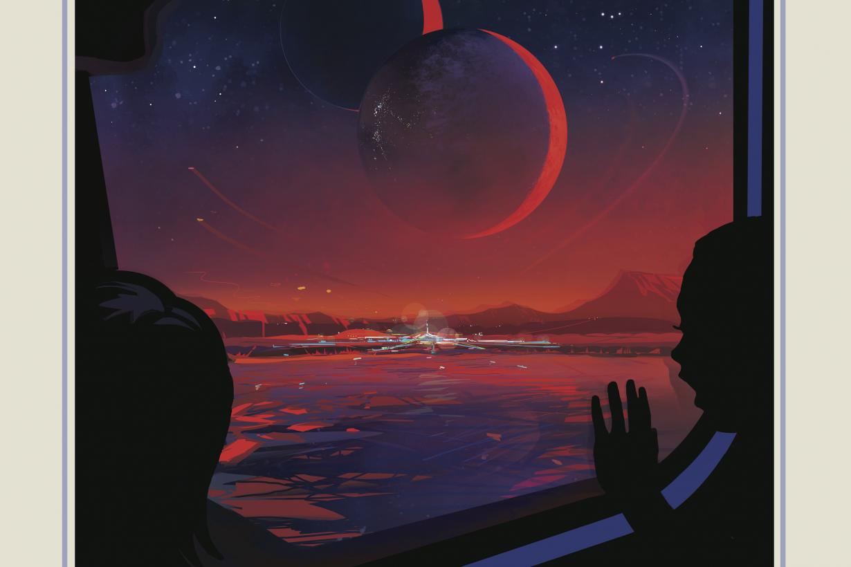 NASA Travel exoplanet Trappist posters
