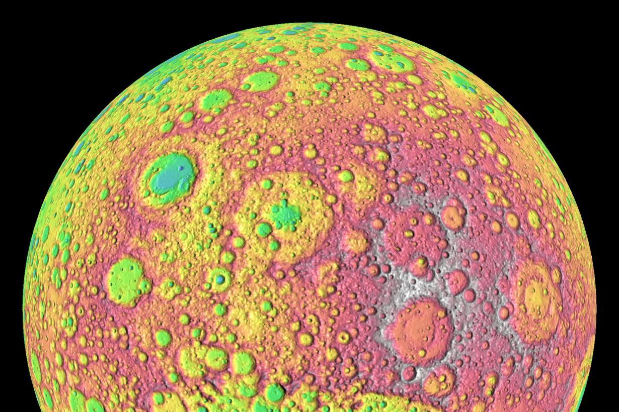 representational image of lunar surface