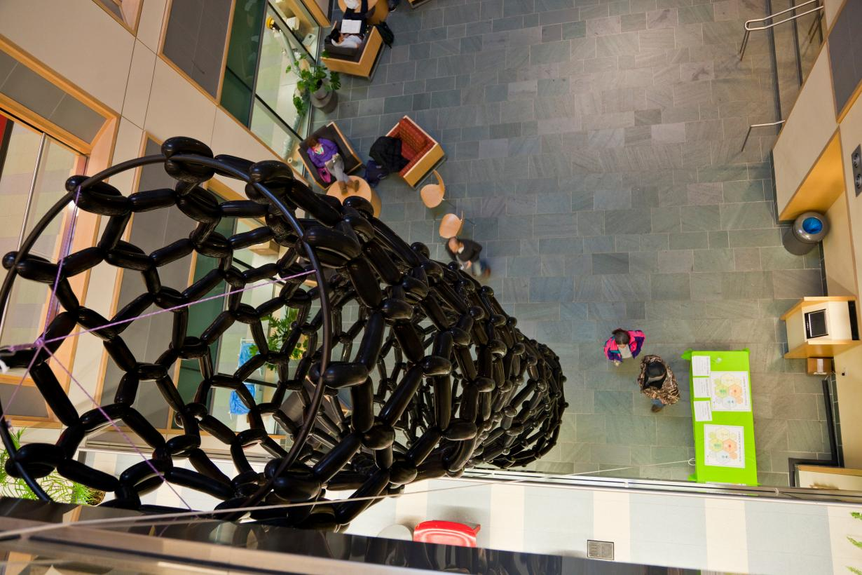 Carbon nanotube model in a museum