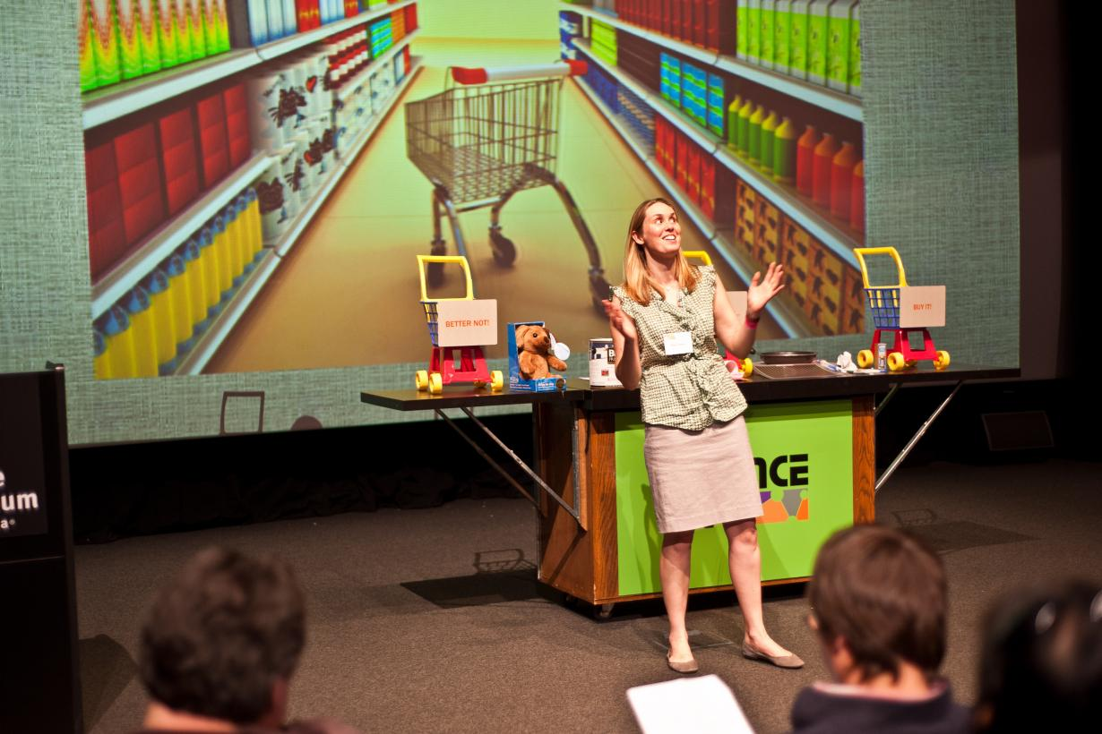 Stage show focused on would you buy that items created with new technology