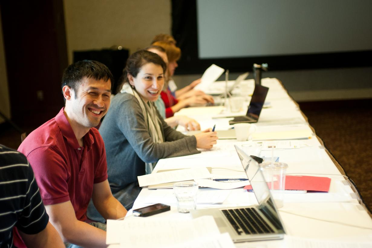 Professionals at a meeting