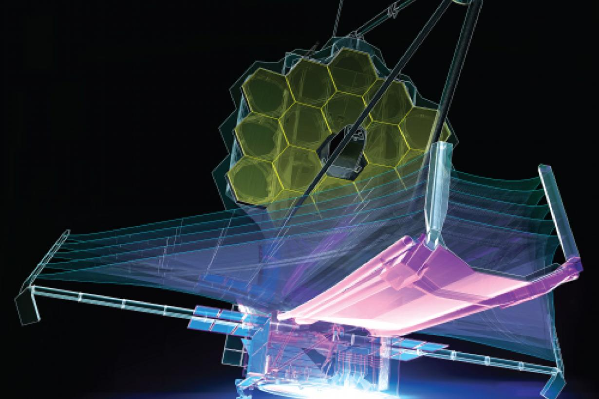 Square version of the JWST poster