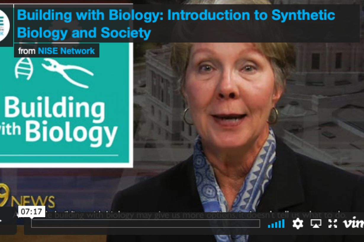Building with Biology introduction to Synthetic Biology and Society video screenshot
