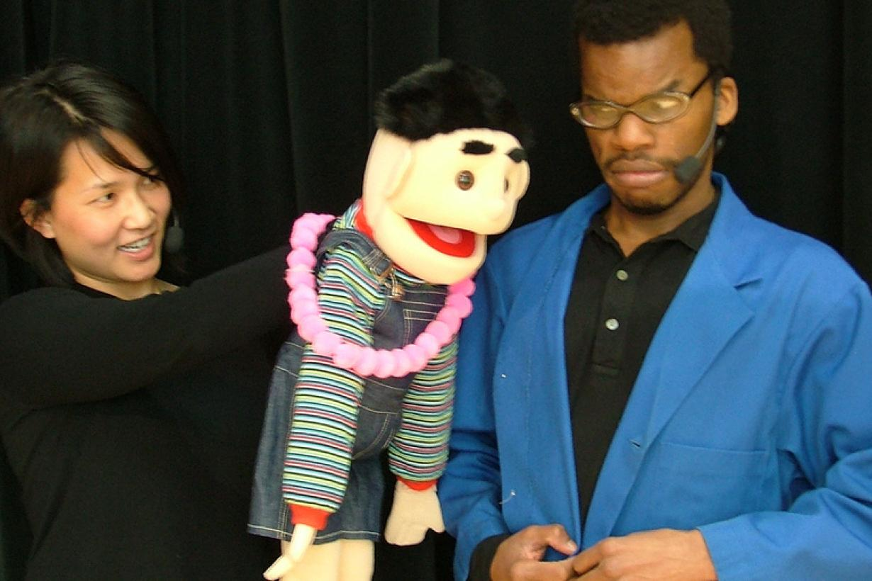 Nano stage program - actors with puppet