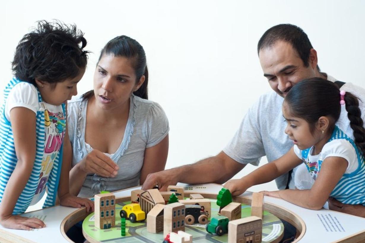 family using exhibit