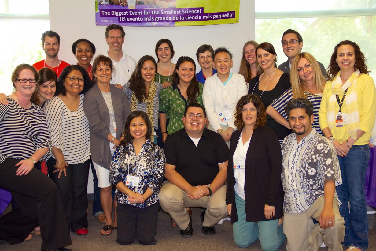 Group photo of attendees of the Bilingual Audiences Workshop in Houston