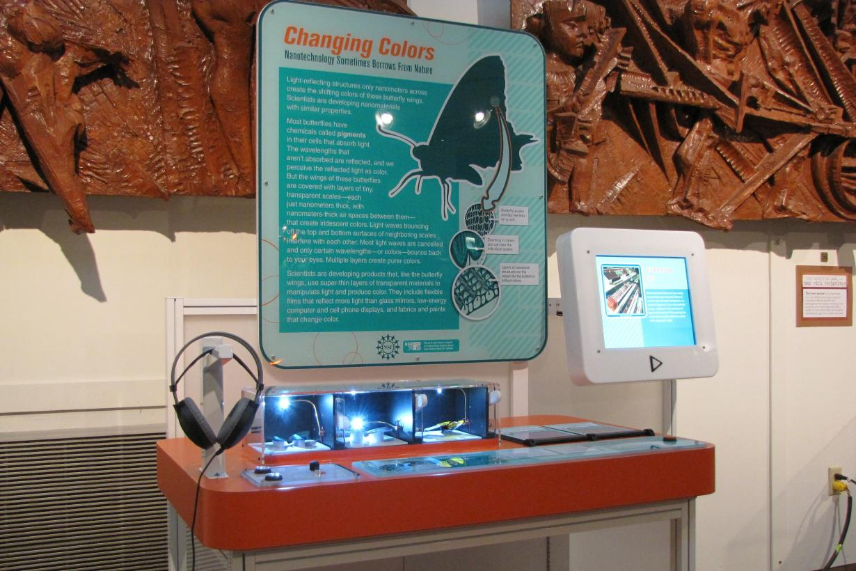 Changing Colors Exhibit as viewed from the left.
