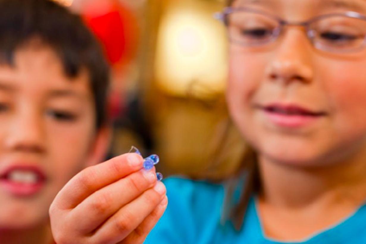 Children using Exploring Fabrication - Gummy Capsules