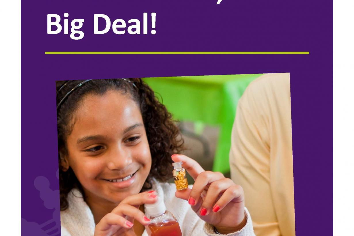 Small science big deal table sign