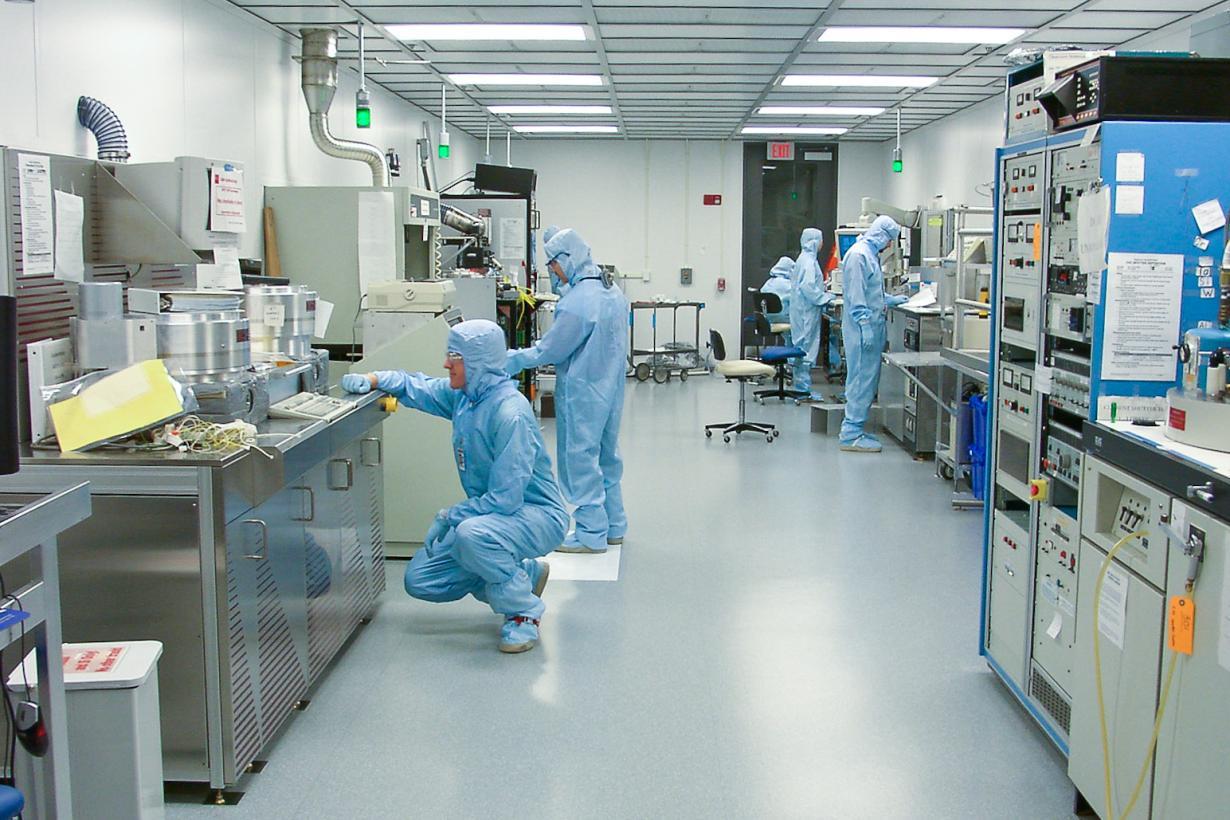 Scientific Image - Cornell Nanoscientists in clean room
