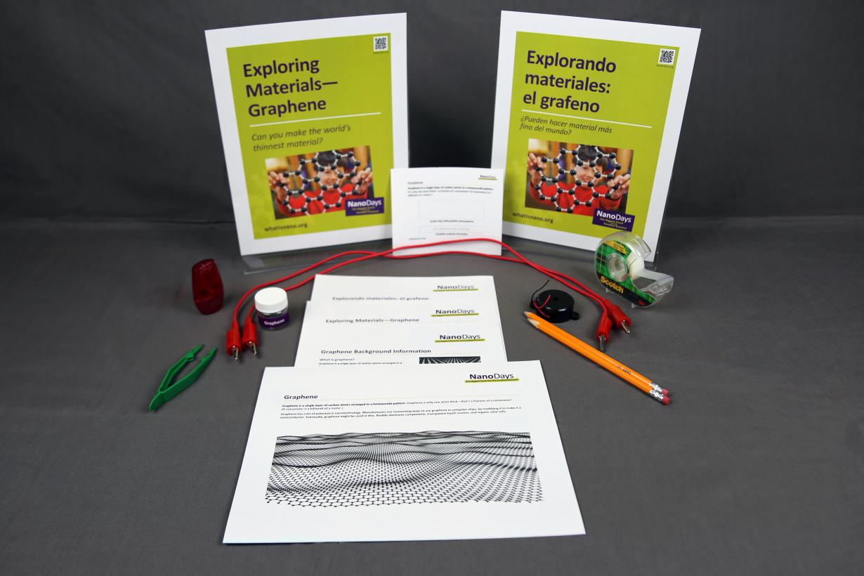 Exploring Materials - Graphene signs, activity materials, and guides.