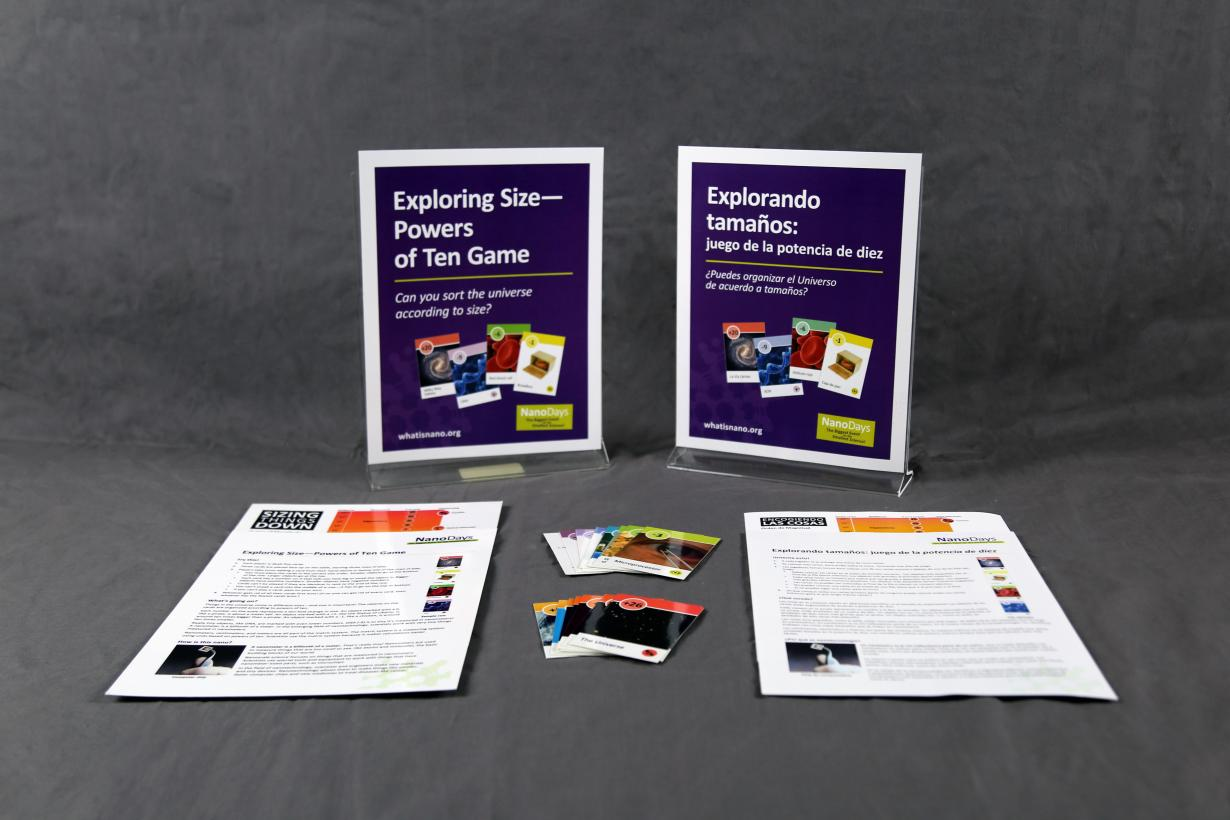 Powers of 10  activity components including signs, activity materials and guides.