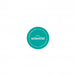 "Building with Biology ""I'm a scientist"" sticker"