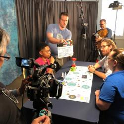 Toolkit training video filming for Earth and Space toolkit boardgames