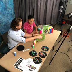 Filming the training video for nebula activity