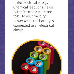 Card for Atoms to Atoms card game - Batteries